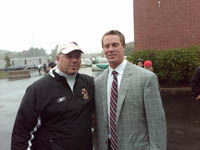 Barry Hynes and Falcons quarterback